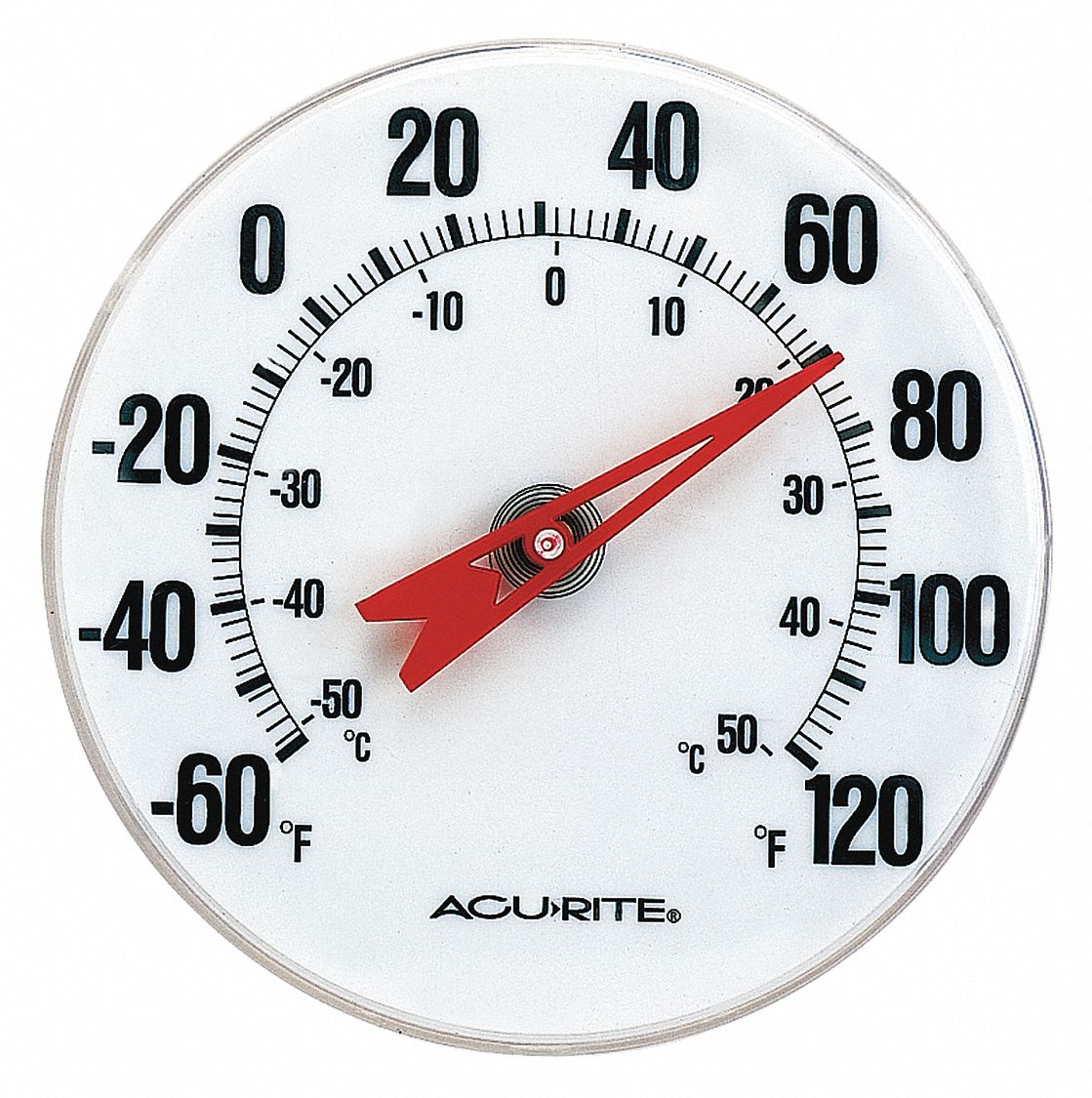 "Analog Thermometer, 5"" Dial Size"
