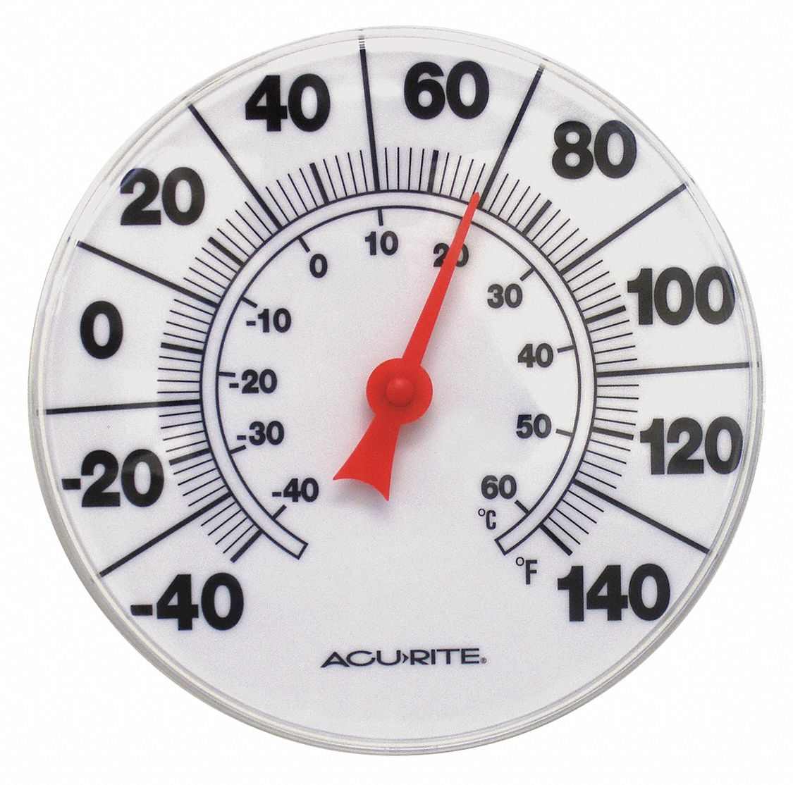 "Analog Thermometer, 8"" Dial Size"