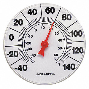 "Analog Thermometer,8"" Dial Size"