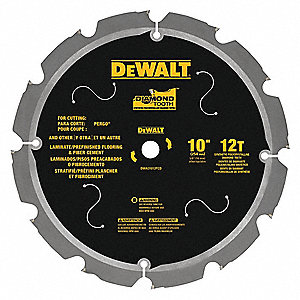 "10"" Diamond Combination Circular Saw Blade, Number of Teeth: 12"