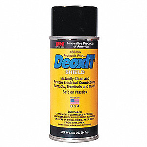 Contact Cleaner and Protectant, 5 oz. Aerosol Can, Unscented Liquid, 1 EA