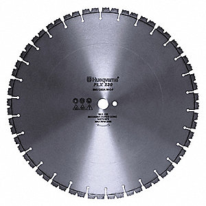 "20"" Wet Diamond Saw Blade, Segmented Rim Type, Application: Demolition"