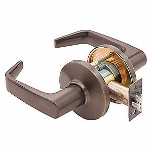 Door Lever Lockset, Mechanical, Keys Not Included (Lock Sold Less Core), Cylindrical