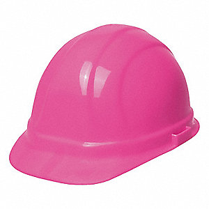 Front Brim Hard Hat, 6 pt. Pinlock Suspension, Hi-Visibility Pink, Hat Size: 6-1/2 to 8