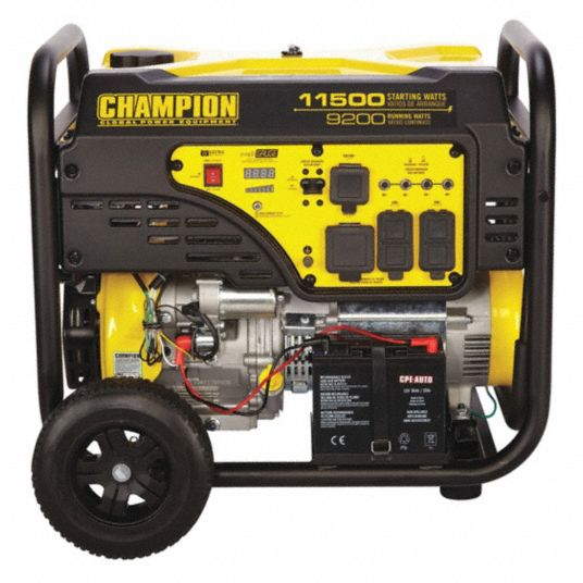 Champion Power Equipment Portable Generator Conventional Generator Fuel Type Gasoline Generator Rated Watts 9 200 W 53ec38 100110 Grainger
