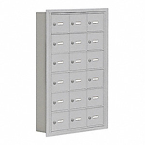"Cell Phone Locker, Assembled, Six Tier, 22-3/4"" Overall Width, 5-3/4"" Overall Depth"