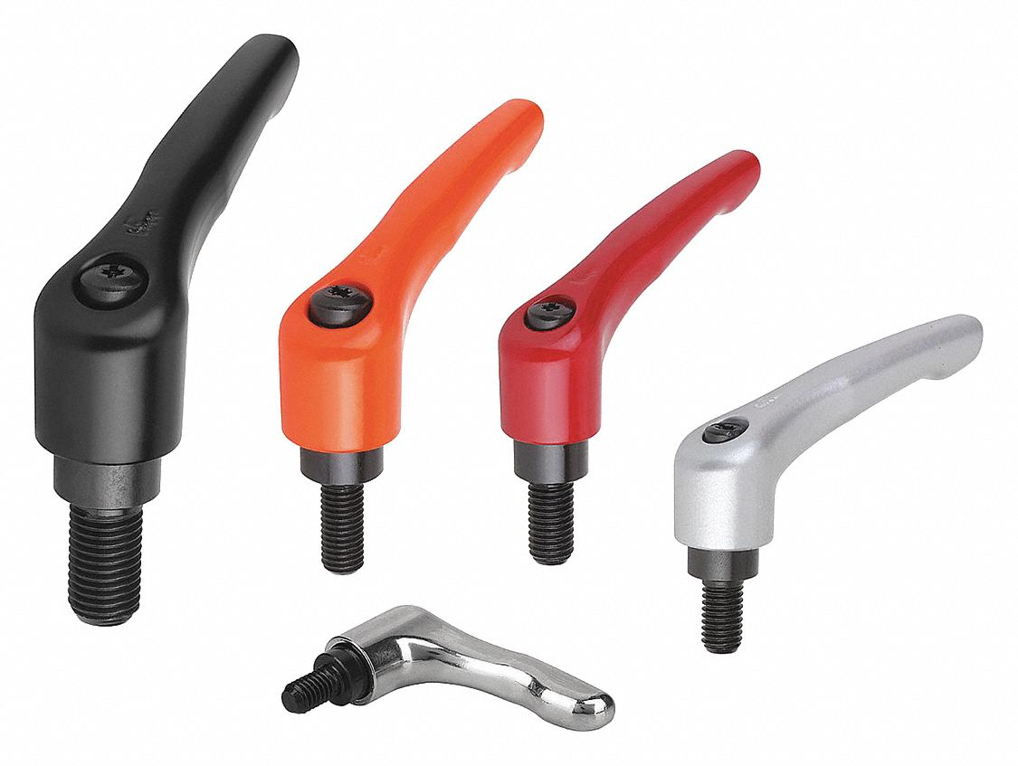 Protective Cap and 5//16-18 External Thread Size 2 Protective Cap and 5//16-18 External Thread KIPP Inc. Orange Powder-Coated Finish Modern Design Style Stainless Components Inch Kipp 06461-92A32X25 Zinc Adjustable Handle 25 mm Screw Length
