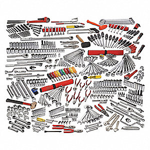 SAE, Metric Master Tool Set, Number of Pieces: 497, Primary Application: General Purpose
