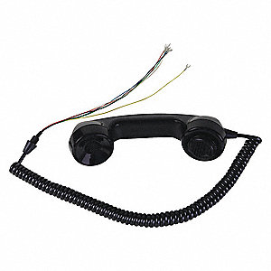 Plastic Handset Kit, Black; For Telephones