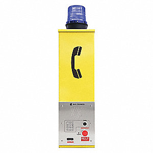 Emergency Phone Tower,Yellow,Wall Mount