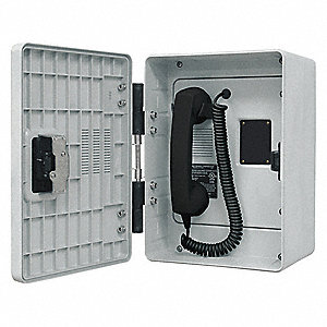 Autodial Telephone,Analog,Gray