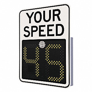"LED Radar Speed Display Sign,31"" Sign W"