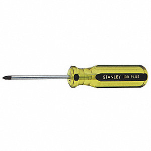"Steel Screwdriver with 4"" Shank and 3/32"" Standard Tip"