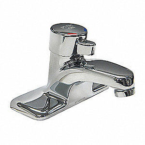 Stainless Steel Bathroom Faucet, Push Button Handle Type, No. Of Handles: 1