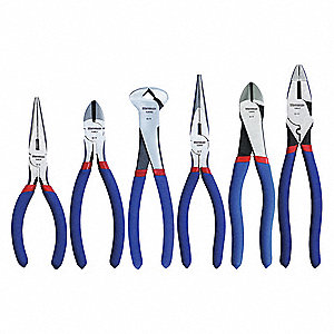 Plier Set,Dipped,6 Pcs