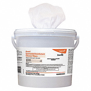 "Disinfecting Cleaning Wipes,  160 ct.,  Canister,  Sheet Size 11"" x 12"",  Ready to Use,  PK 4"