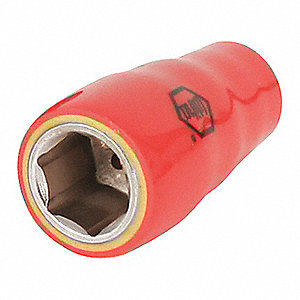 "Insulated Socket,1/4"",6 Points,SAE"