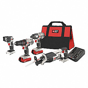 20V MAX Cordless Combination Kit, 20.0 Voltage, Number of Tools 4