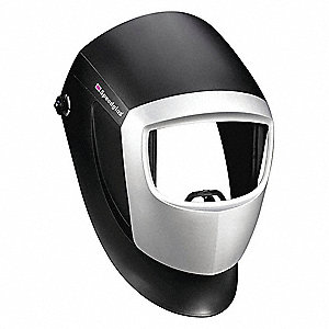 "9000 Series, Passive Welding Helmet, 10 Lens Shade, 2.13"" x 4.09"" Viewing AreaBlack"