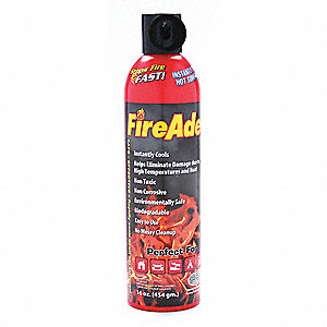Fire Extinguishing Spray (aerosol can), Foam, Fire Fighting Foam, 1 lb.