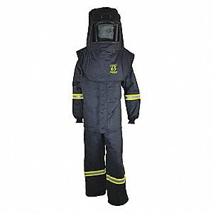 Arc Flash Suit Kit,Gray,L
