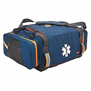 "Blue Gear Bag,  Polyester,  3882 cu. in. Storage Capacity,  25-1/2"" Length,  14-1/2"" Width"