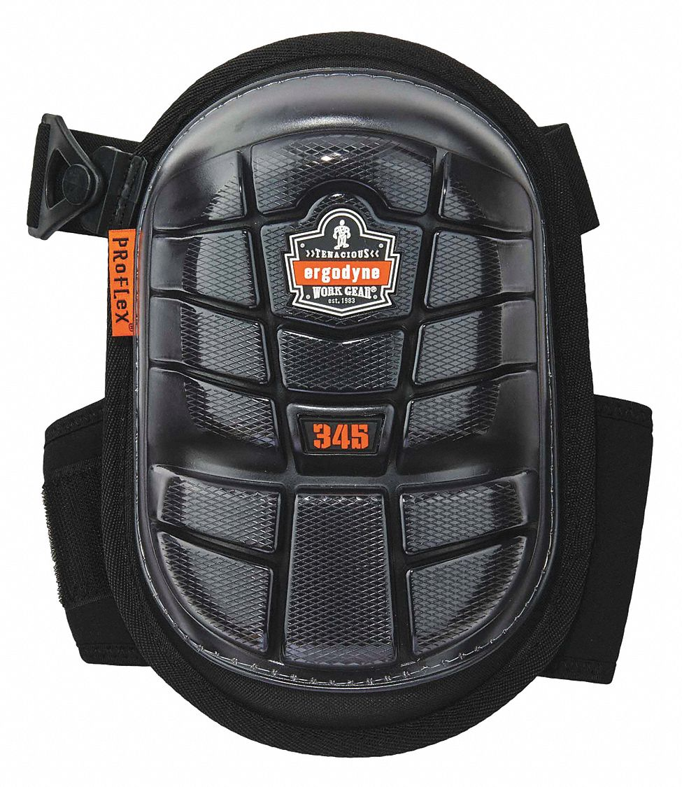 Hard Shell 2-Strap Knee Pads, Black, Universal