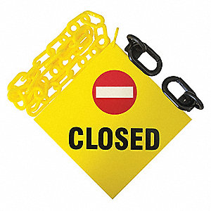 Sign Kit,Size 12 ft.,Yellow