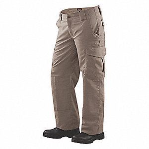 "Women's Tactical Pants. Size: 14, Fits Waist Size: 32"" to 33"", Inseam: 35"", Khaki"