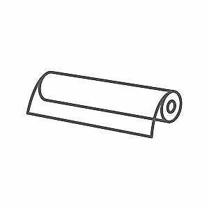 "Roll Stock, 10 ft. L, 18"" W, 0.005"" Thk"