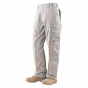 "Men's Tactical Pants. Size: 48"", Fits Waist Size: 47"" to 49"", Inseam: 37"", Stone"