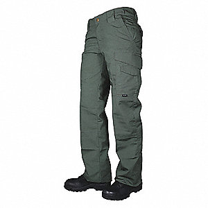 Womens Tactical Pants,Size 8,OD Green