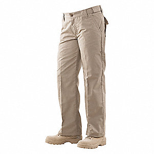 "Women's Tactical Pants. Size: 10, Fits Waist Size: 30"" to 31"", Inseam: 35"", Khaki"