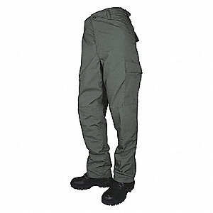 "Men's Tactical Pants. Size: R/40, Fits Waist Size: 40"" to 42"", Inseam: 32"", OD Green"