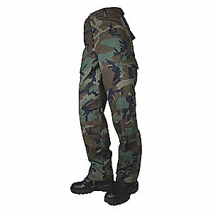 "Men's Tactical Pants. Size: 48"", Fits Waist Size: 48"" to 50"", Inseam: 32"", Woodland"