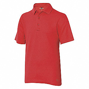 Mens Tactical Polo,Size 3XL,Range Red