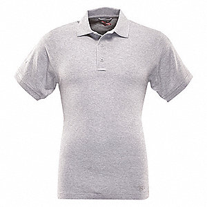 Womens Polo, Size M, Heather Gray