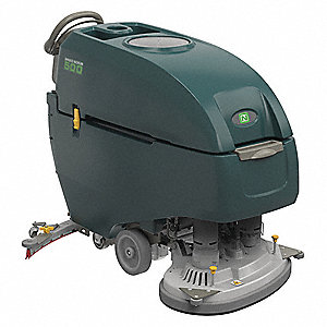 "Floor Scrubber, Walk-Behind, 220 rpm Brush Speed, Disc Deck Style, 0.46 HP, 32"" Cleaning Path"