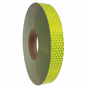 "Reflective Tape, 1"" Width, 150 ft. Length, Emergency Vehicle, Roll"