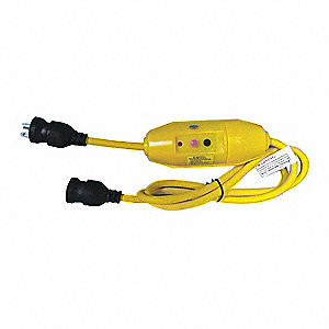 Line Cord GFCI,  6 ft.,  Yellow,  20.0,  Plug Configuration NEMA 5-20P
