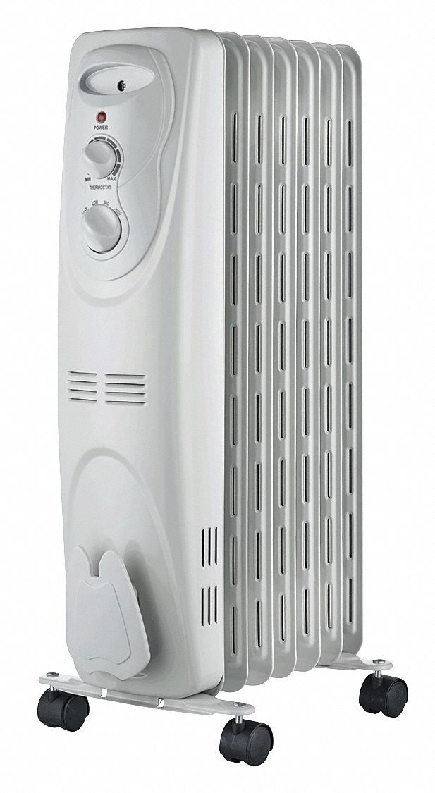 Radiator,  Portable Electric Heater,  1500W,  120V AC,  Non-Oscillating,  Convection