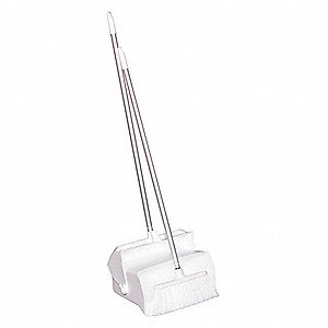 Lobby Dust Pan and Broom Set,White