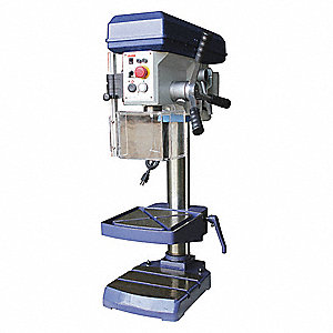 "1 Motor HP Bench Drill Press, Belt Drive Type, 13"" Swing, 120 Voltage"