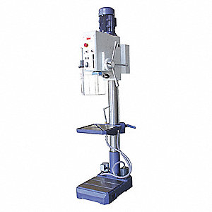 "Floor Drill Press,Geared Head Drive,87""H"