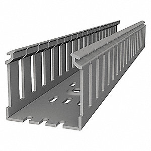 Wiring Duct,Wide Slot Wall,Gray,6 ft. L