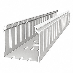 Wiring Duct,Wide Slot Wall,White,6 ft. L