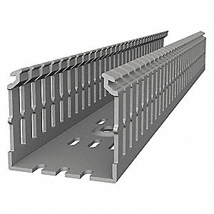 Wiring Duct,Narrow Slot Wall,Gray,6 ft.L