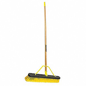 "Push Broom,60"" Handle L,24"" Broom W"