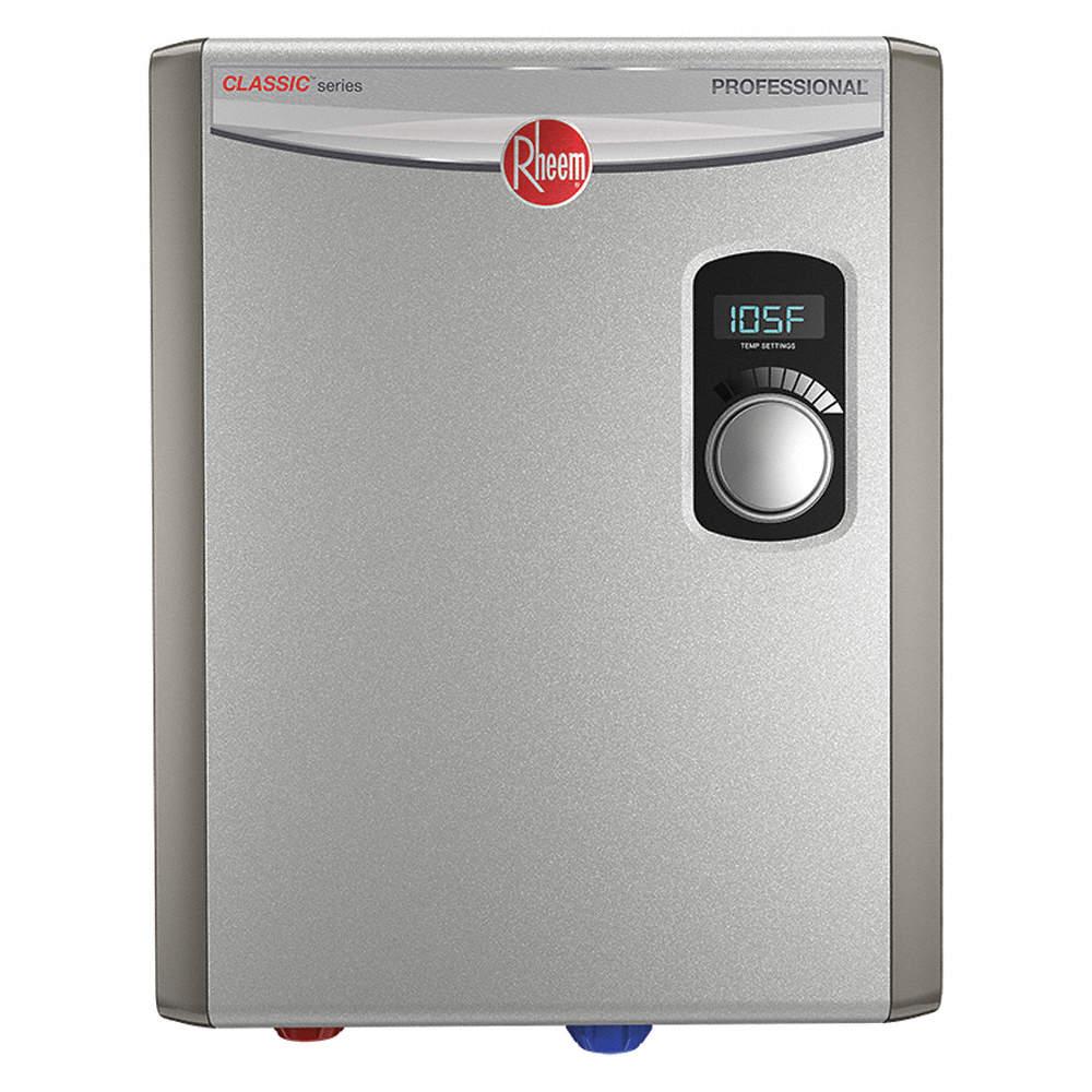 Rheem 208 240v General Purpose Electric Tankless Water Heater 18 000 W Watts 75 Amps Water Heaters 53uj86 Rtex 18 Grainger