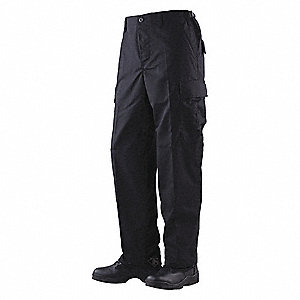 "Men's Tactical Pants. Size: R/2XL, Fits Waist Size: 44"" to 46"", Inseam: 32"", Black"